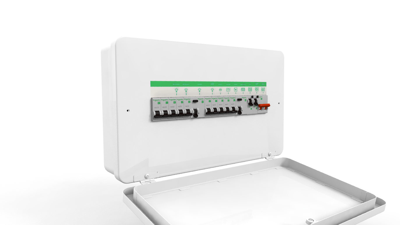 Schneider Easy9+ - Amendment 3, dual RCD, high integrity consumer unit.